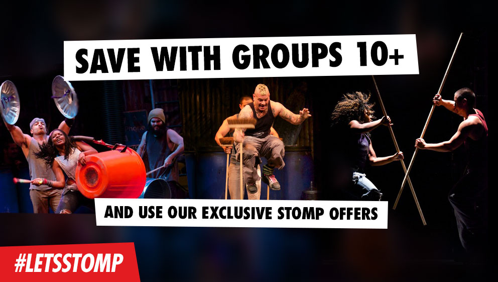Save with Grouops 10+ and use our exclusive Stomp Offers